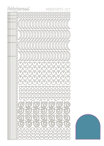 Hobby Dots - Sticker serie 017 - Mirror Turquoise