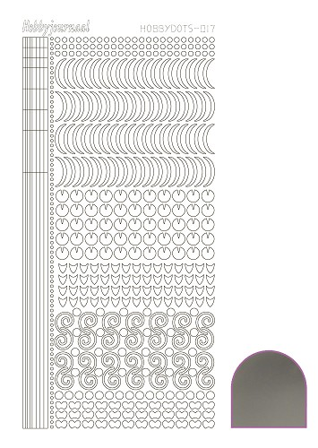Hobby Dots - Sticker serie 017 - Mirror Silver