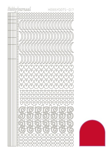 Hobby Dots - Sticker serie 017 - Adhesive Red