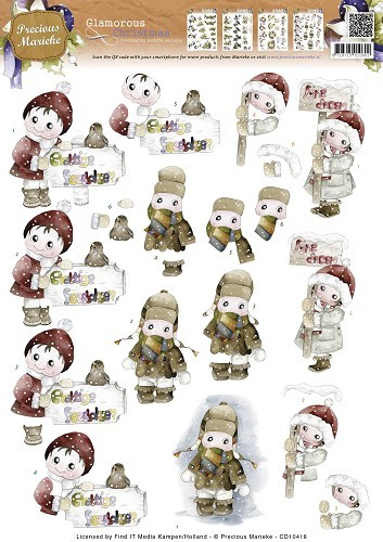 CD 10418 - Precious Marieke - Glamorous Christmas - Kids in the snow