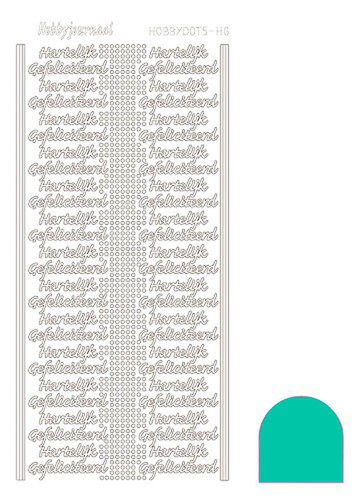 Hobby Dots - Sticker HG Mirror Emerald (blauw/groen)