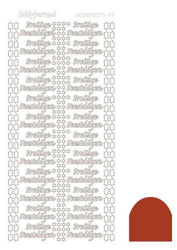 Hobby Dots - Sticker serie PF Mirror Christmas Red (Kerstrood)