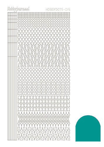 Hobby Dots - Sticker serie 015 - Mirror Emerald (Blauw/groen)