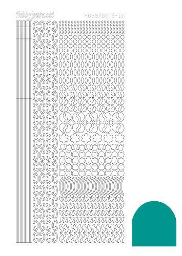 Hobby Dots - Sticker serie 011 - Mirror Emerald (Blauw/groen)