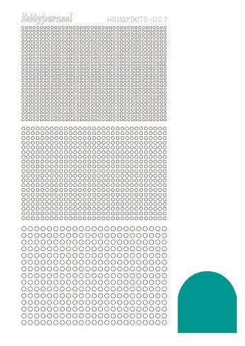 Hobby Dots - Sticker serie 007 - Mirror Emerald (Blauw/groen)