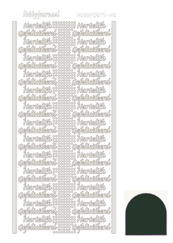 Hobby Dots - Sticker serie HG - Mirror Christmas Green