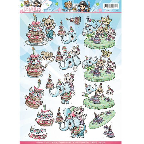 Yvonne Creations - CD 10825-HJ14301 - Tots and Toddlers - Verjaardag
