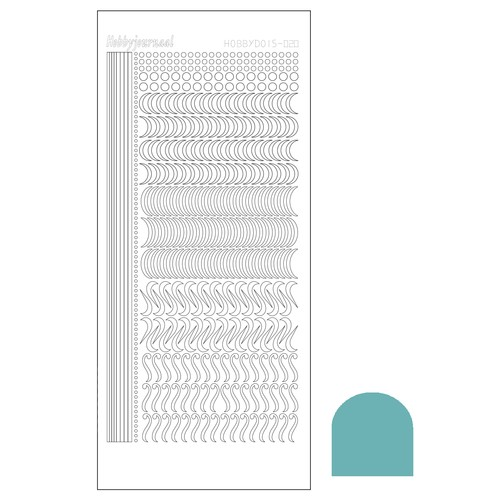 Hobby Dots - Sticker serie 020 - Mirror Turquoise