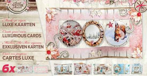 Luxe Kaartblok - 170 en 250 grams Papier - Sweet Winter Season