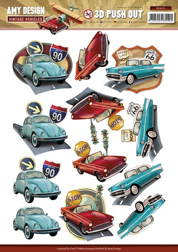 Amy Design - SB 10151 - Vintage Vehicles