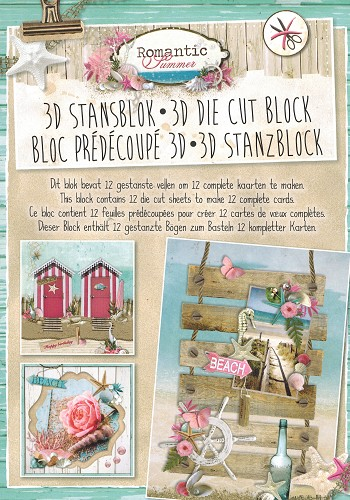 A4 - 3D Stansblok - Romantic Summer