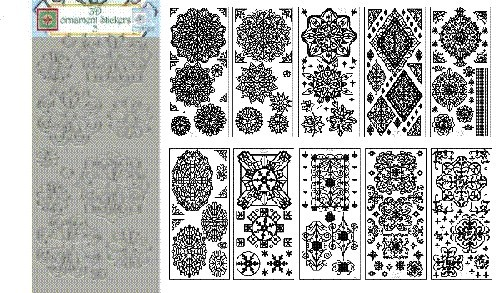 JeJe 3-D Ornament stickers 1 - Set van 10 stuks in Zilver