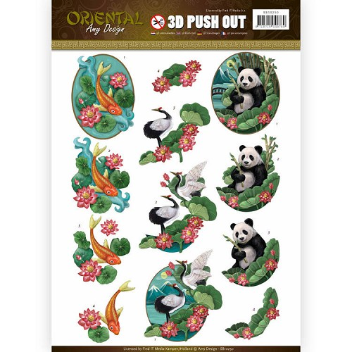 SB 10250 - Push Out - Amy Design - Oriëntal - Animals