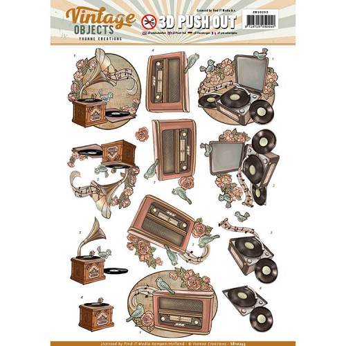 SB 10253 - Push Out - Yvonne Creations - Vintage Objects - Vintage Music
