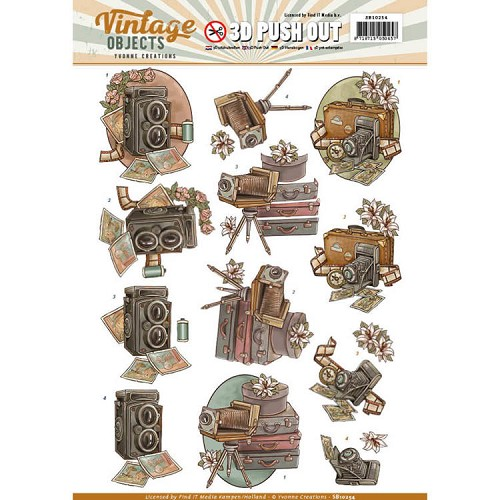 SB 10254 - Push Out - Yvonne Creations - Vintage Objects - Vintage Cameras