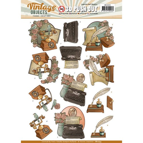 SB 10255 - Push Out - Yvonne Creations - Vintage Objects - Vintage Communication