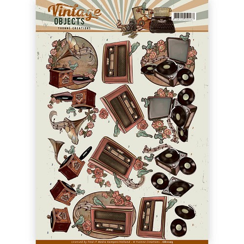 Yvonne Creations - CD 11105 - Vintage Objects - Vintage Music