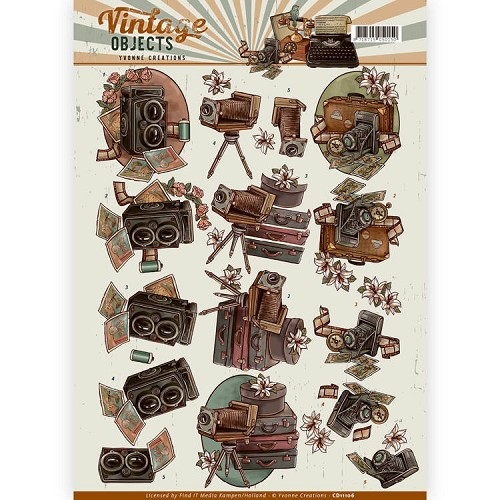 Yvonne Creations - CD 11106 - Vintage Objects - Vintage Cameras