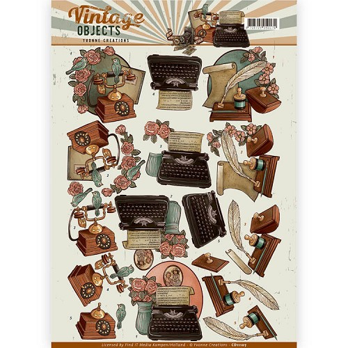 Yvonne Creations - CD 11107 - Vintage Objects - Vintage Communications