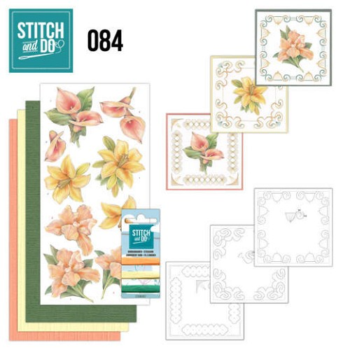 Stich & Do 84 - Oranje/gele bloemen