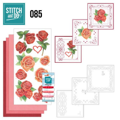 Stich & Do 85 - Roze/rode rozen