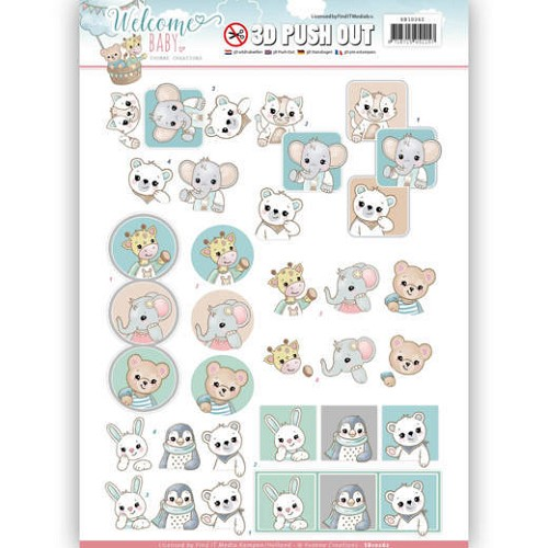 3-D Push Out - Yvonne Creations SB 10262 - Welcome Baby