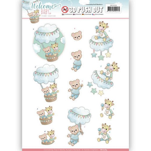 3-D Push Out - Yvonne Creations SB 10264 - Welcome Baby