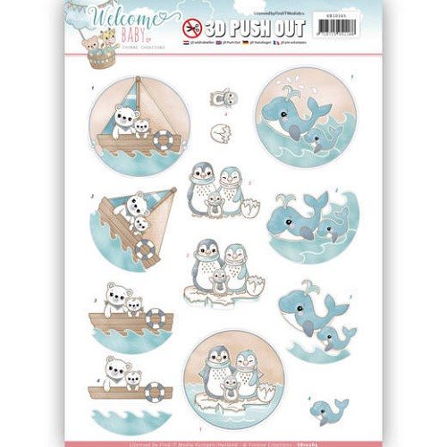 3-D Push Out - Yvonne Creations SB 10265 - Welcome Baby