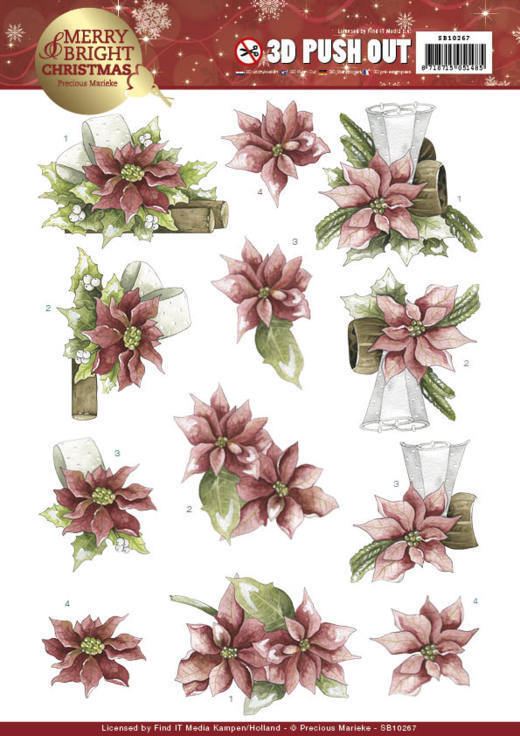 Precious Marieke - SB 10267 - Merry and Bright Christmas - Poinsettia in