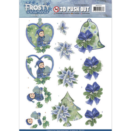 Jeanine's Art - SB 10279 - Frosty Ornaments - Green Ornaments