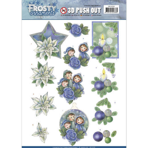 Jeanine's Art - SB 10280 - Frosty Ornaments - Blue Ornaments