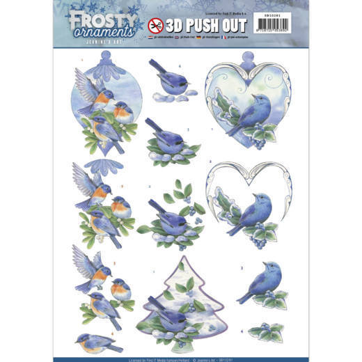 Jeanine's Art - SB 10281 - Frosty Ornaments - Blue Birds