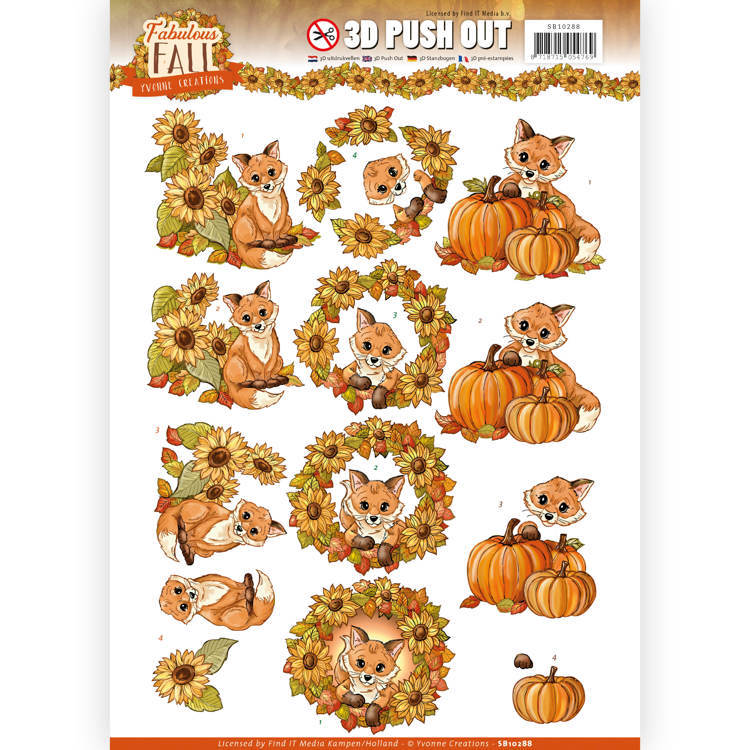 Yvonne Creations - SB 10288 - Fabulous Fall - Fabulous Foxes
