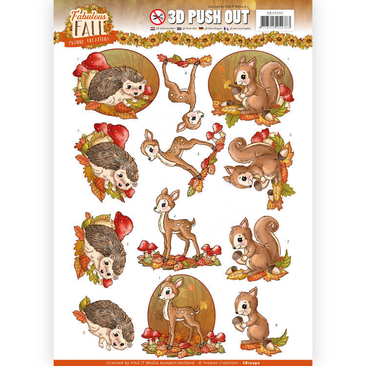 Yvonne Creations - SB 10290 - Fabulous Fall - Fabulous Animals