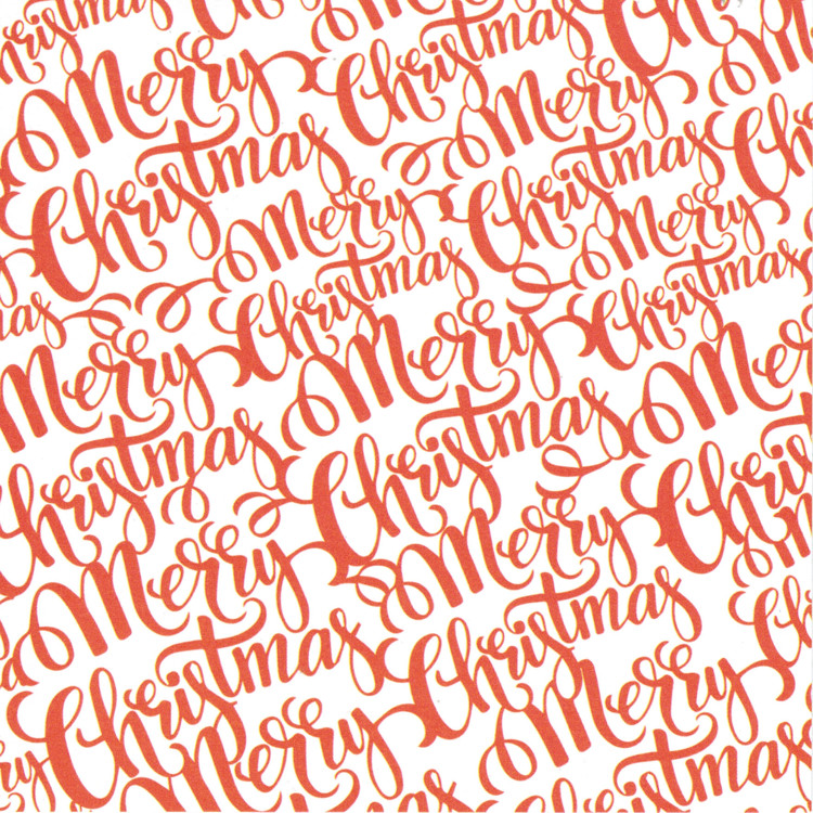 Kerst achtergrond papier Merry Christmas - 5 vel