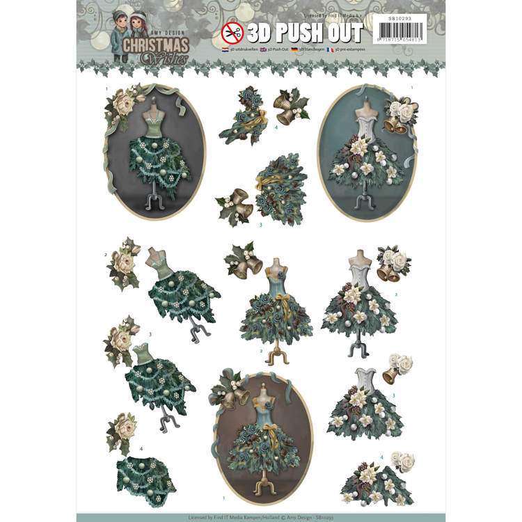 SB 10293 - Push Out - Amy Design - Christmas wishes - Well dressed