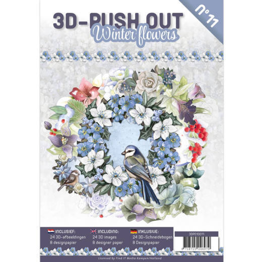 3-D Push Out Boek no. 11 - Winterflowers