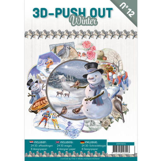 3-D Push Out Boek no. 12 - Winter
