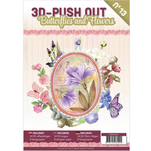 3-D Push Out Book no. 13 - Vlinders en Bloemen