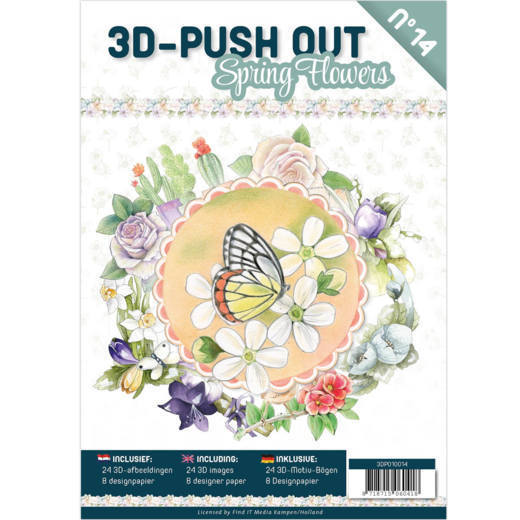 3-D Push Out Book no. 14 - Bloemen