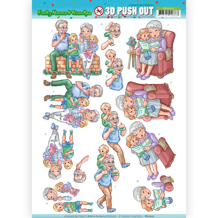 3D Pushout - SB 10322 - Yvonne Creations - Funky Nanna's - With the grandchilds