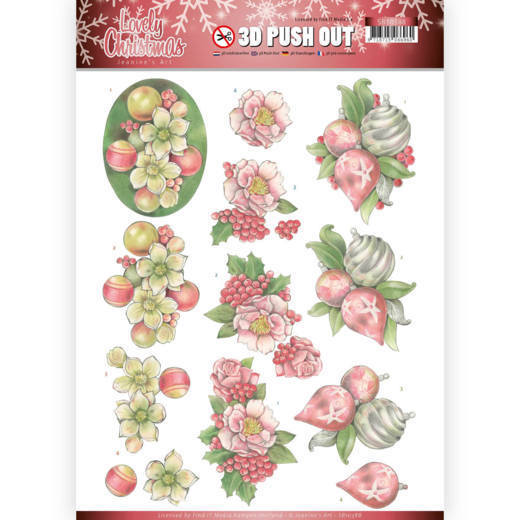 3D Pushout SB 10388 - Jeanine's Art - Lovely Christmas - Ornaments