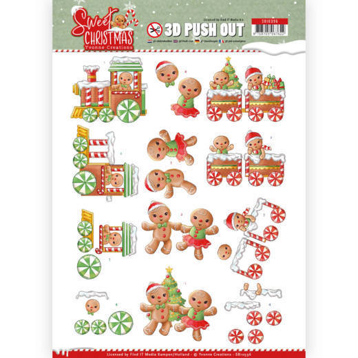 3-D Push Out - SB 10396 - Yvonne Creations - Sweet Christmas - Sweet Cookies