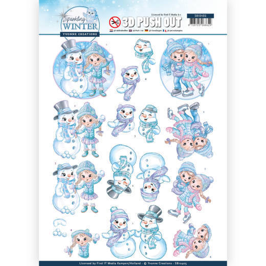 3-D Push Out - SB 10405 - Yvonne Creations - Sparkling Winter - Winterfun
