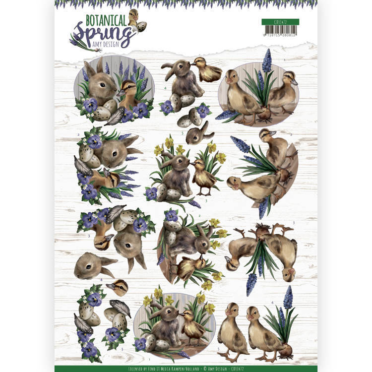 CD 11472 - 3D cutting sheet - Amy Design - Botanical Spring - Best Friends