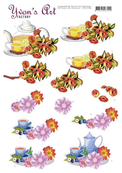 CD 11548 - 3D Cutting Sheets - Yvon's Art - Teapot