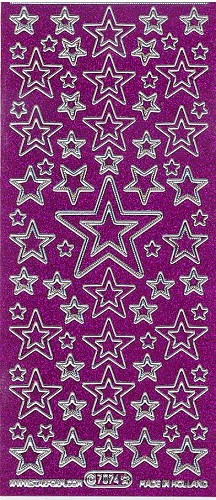 Starform 7074 Gekleurd Glitter Purple