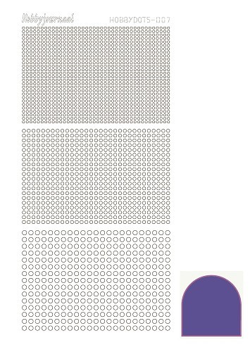 Hobby Dots - Sticker serie 007 - Mirror Purple