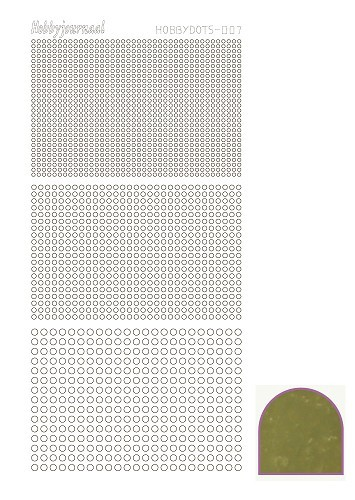 Hobby Dots - Sticker serie 007 - Mirror Goud