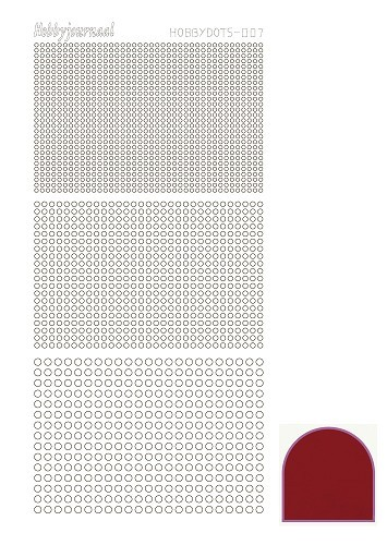 Hobby Dots - Sticker serie 007 - Mirror Rood